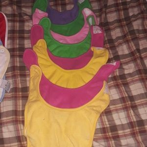Lot of 8 Terry cloth baby bibs